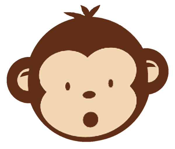 Monkey Face Clip Art Black And White-monkey face clip art black and white-18