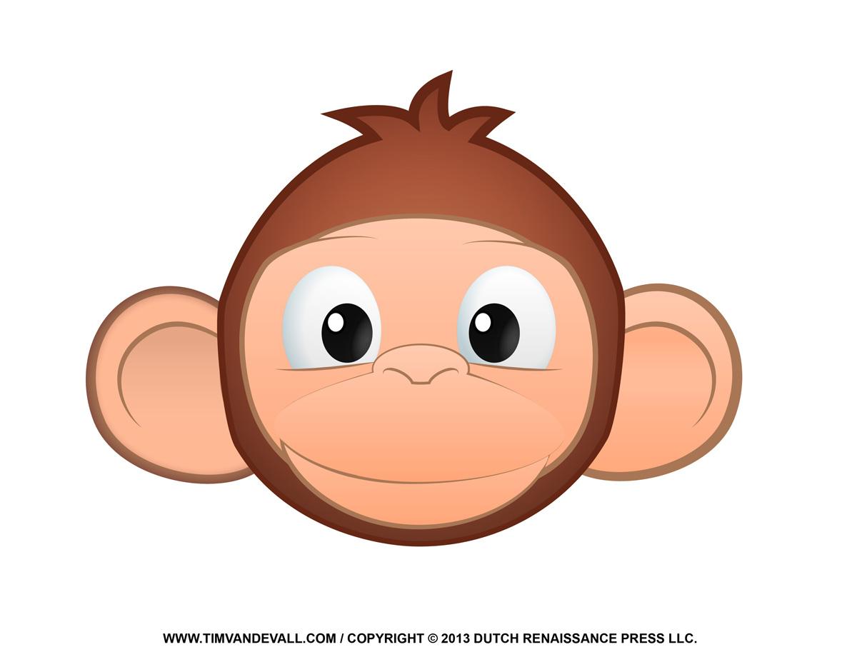 Monkey Face Clip Art Jpg