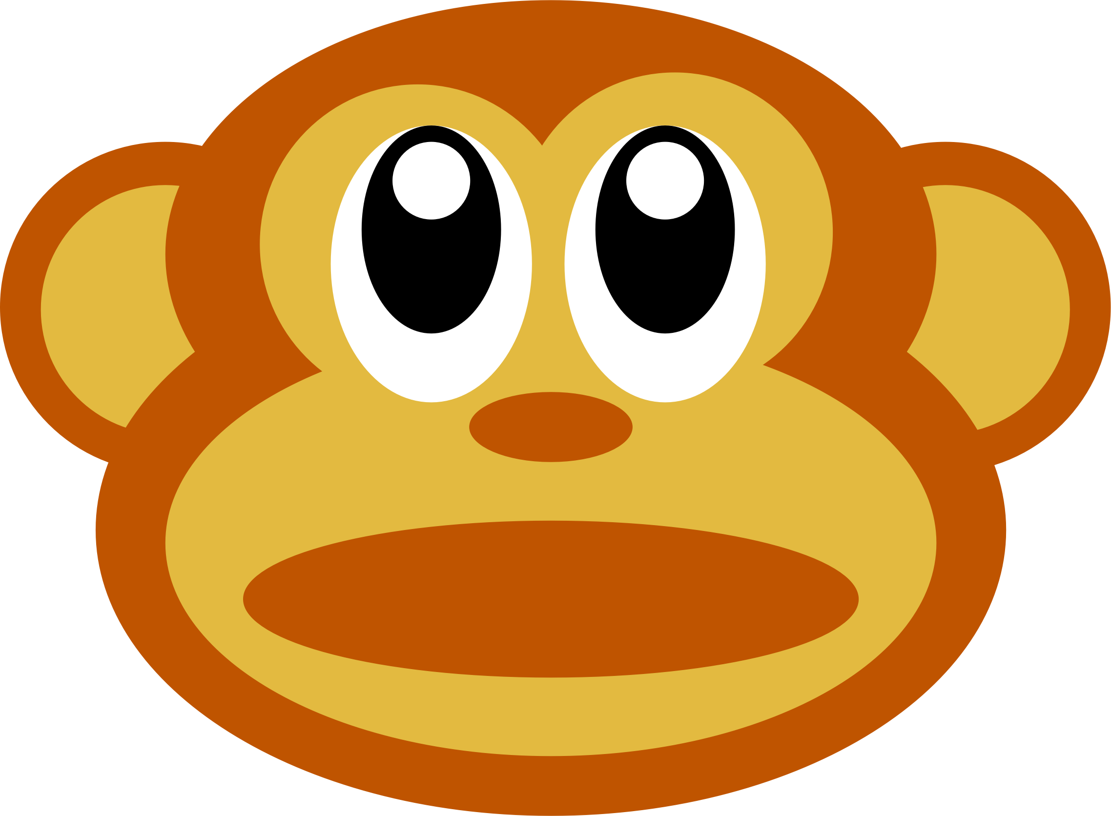 Monkey Face Clipart #1. BIG IMAGE (PNG)