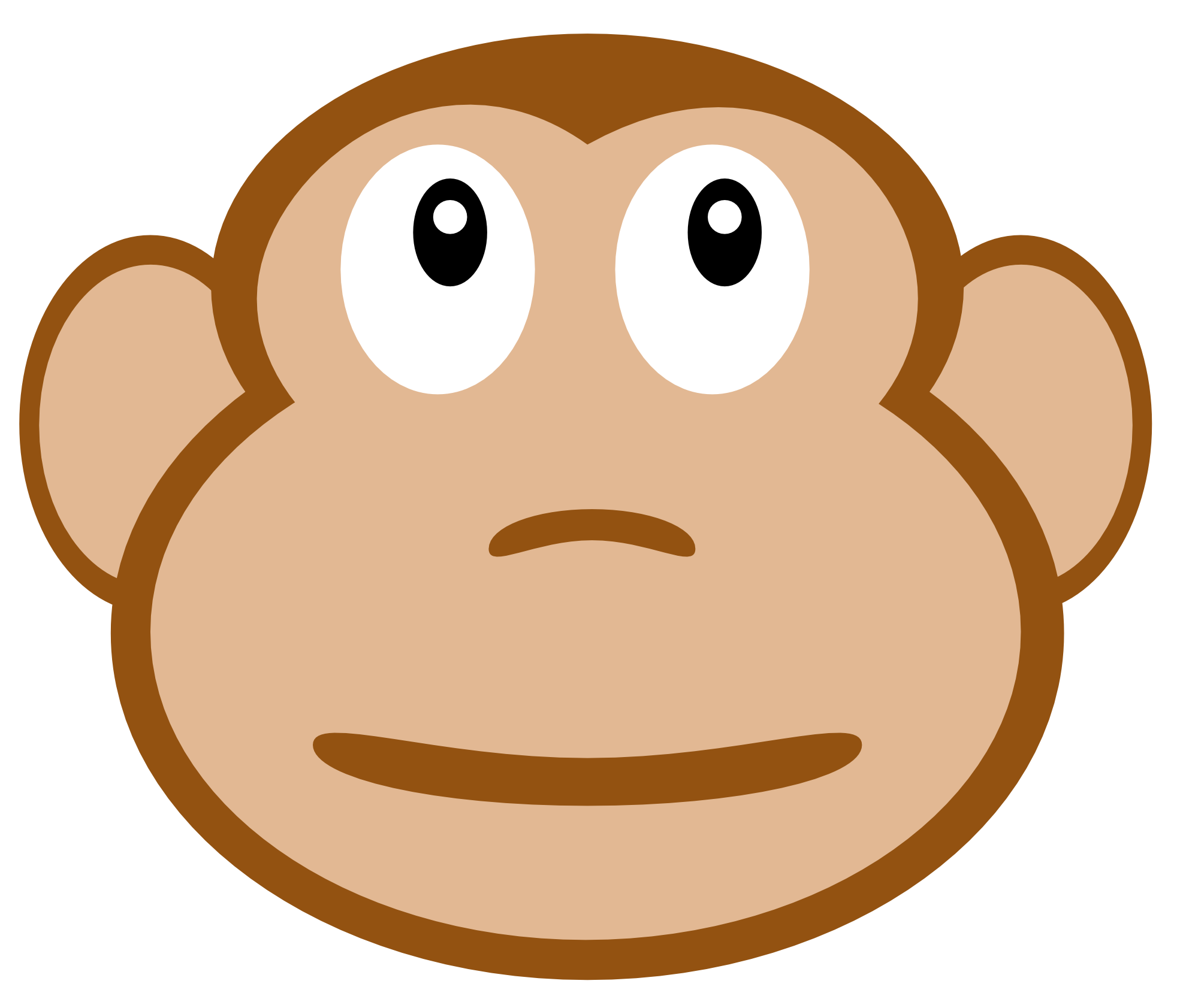 Monkey Face Drawing - Clipart library