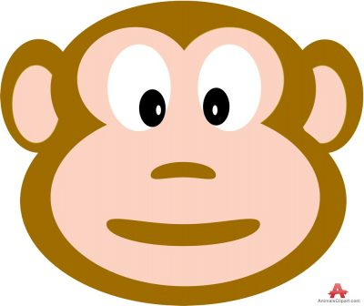 Monkey Face Drawing Clipart .