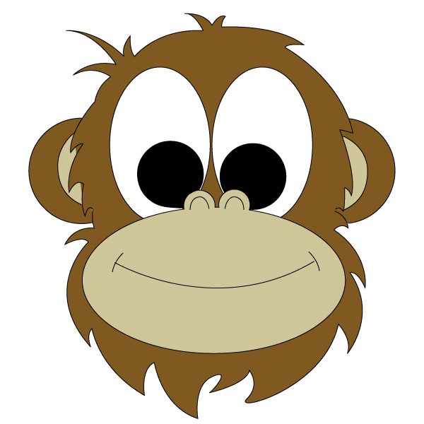Monkey Face Drawing-Monkey Face Drawing-12