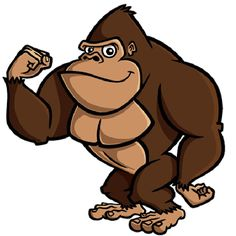 Monkeys Cartoon Clip Art . - Gorilla Clip Art