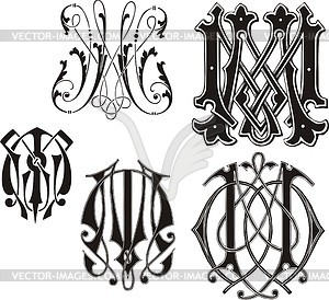 Monogram Mm Vector Clipart-Monogram Mm Vector Clipart-13