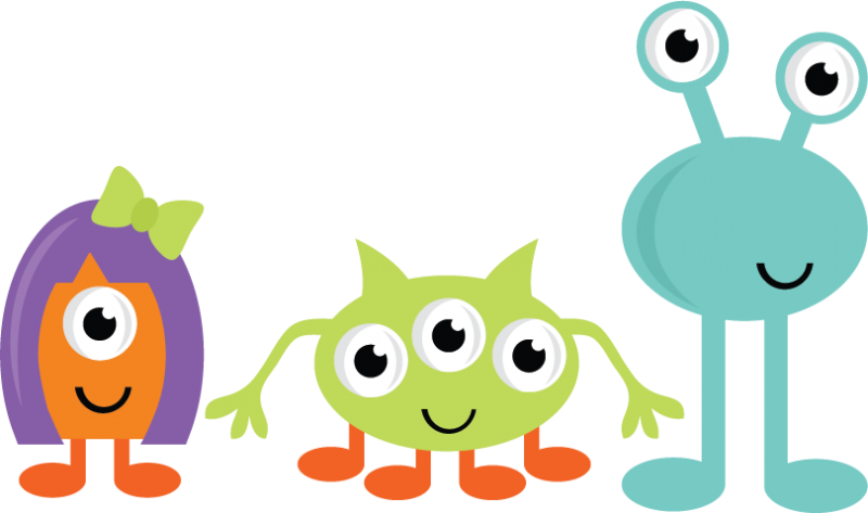 Monster Borders School Clipart
