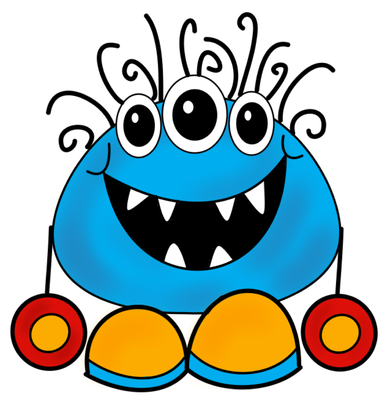 Monster clip art cartoon free clipart images 2