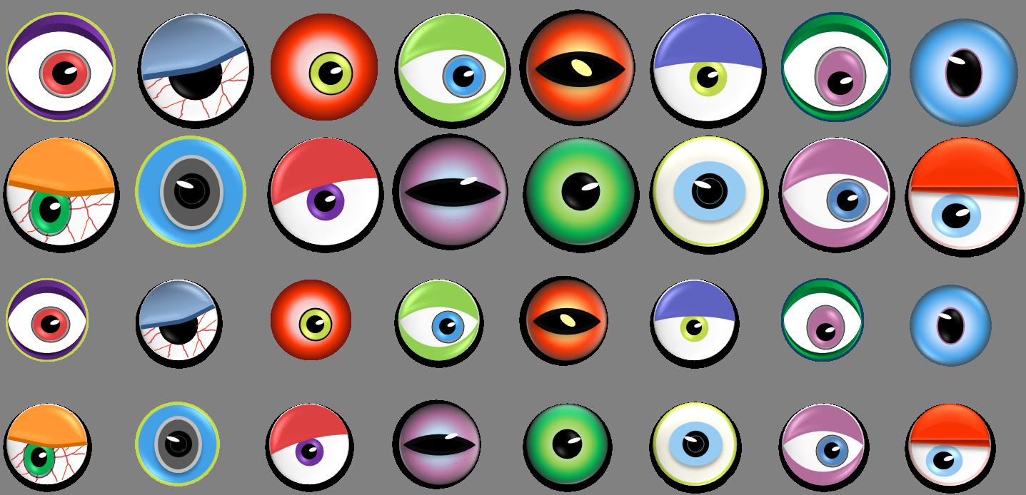 Monster Eye Ball Clip Art