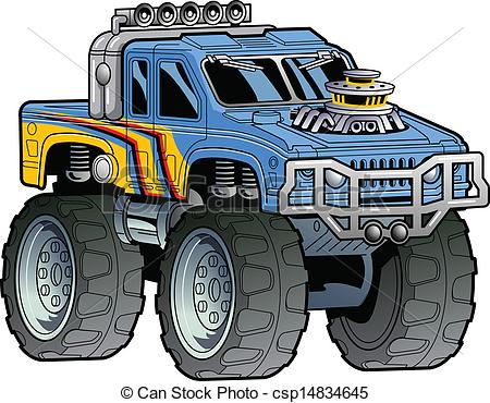 Monster Truck - Cartoon .-Monster Truck - Cartoon .-6