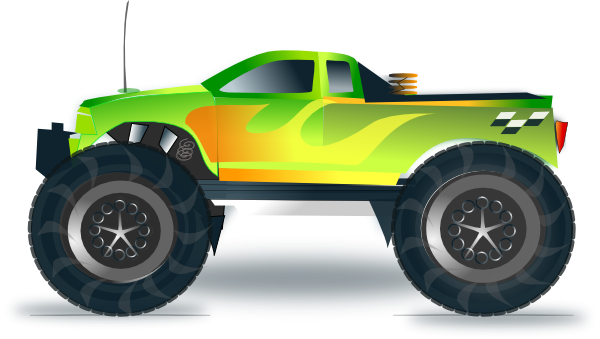 Monster Truck Is A Modified Pickup Truck-Monster Truck Is A Modified Pickup Truck With Extremely Large Wheels-5