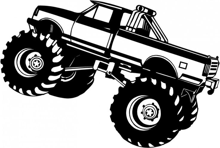 Monster truck on monster .-Monster truck on monster .-9
