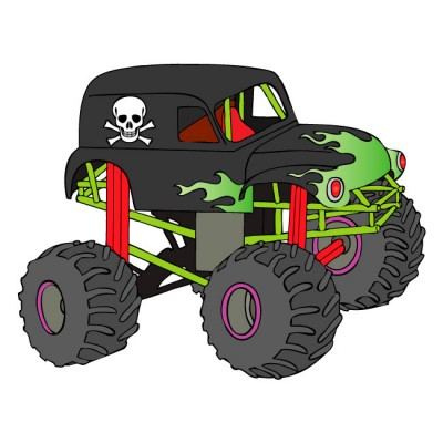 Monster Trucks Clip Art Grave Digger Gra-Monster Trucks Clip Art Grave Digger Gravedigger Monster Truck Wall-10