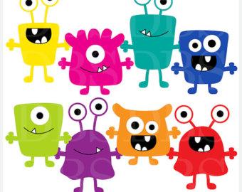 monsters clip art digital ali - Aliens Clipart