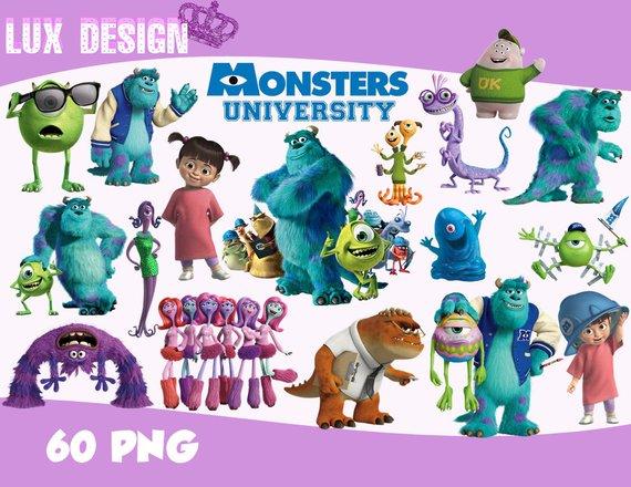 60 Monsters University u0026 Inc ClipArt- PNG Images 300dpi Digital, Clip Art,  Instant Download, Graphics transparent background Scrapbook