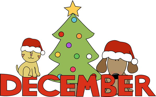 Month of December Christmas P - December Clipart Images