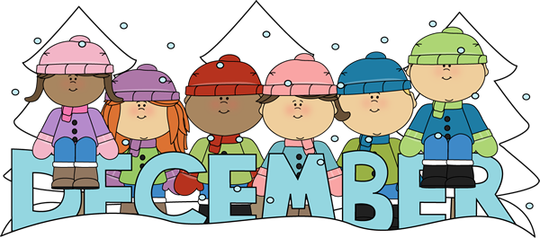 Month of December Winter Kids - December Pictures Clip Art