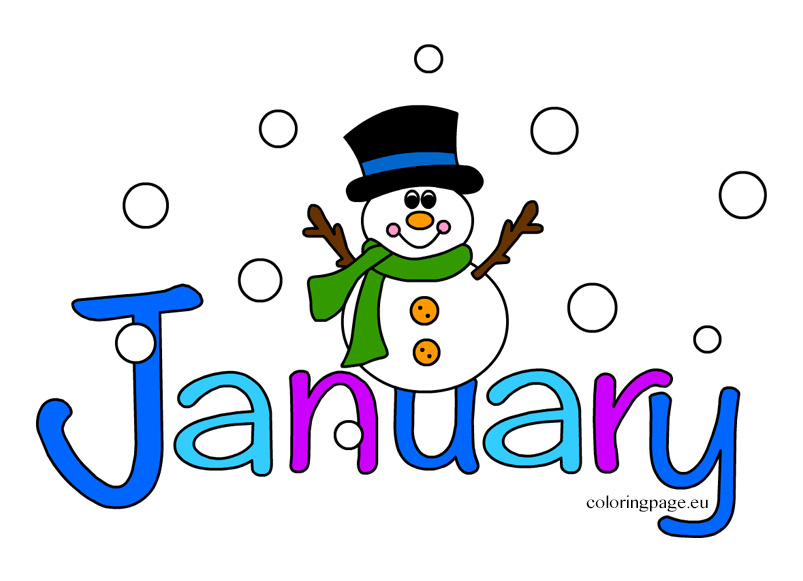 Month of january clipart