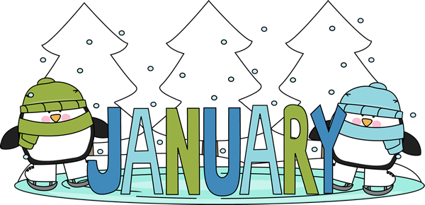 Month of January Winter Pengu - January Images Clipart