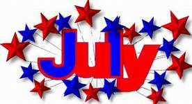 Month Of July Clipart