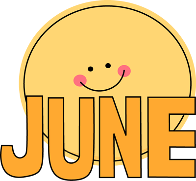 Month Of June Sun Clip Art Image The Wor-Month Of June Sun Clip Art Image The Word June In Orange With A-18
