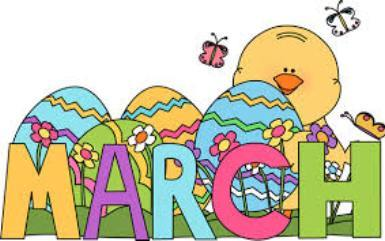 month of march clip art