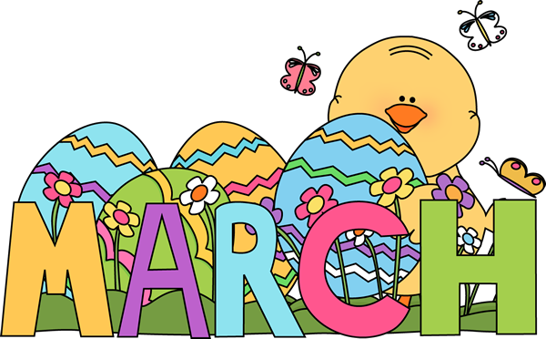 Month of March Easter - March Images Clip Art