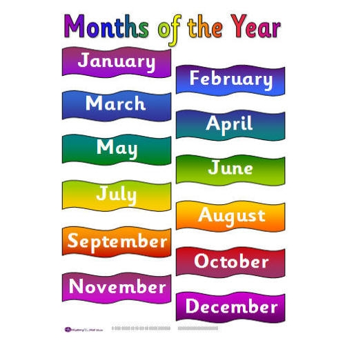 Months Of The Year Clip Art C - Months Of The Year Clipart