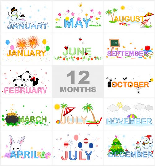 Months Of The Year Printable - Can Match-Months of the Year Printable - can match the month to the pictures-16