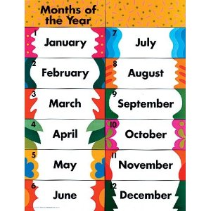 MONTHS OF THE YEAR WORD SEARC - Months Of The Year Clipart