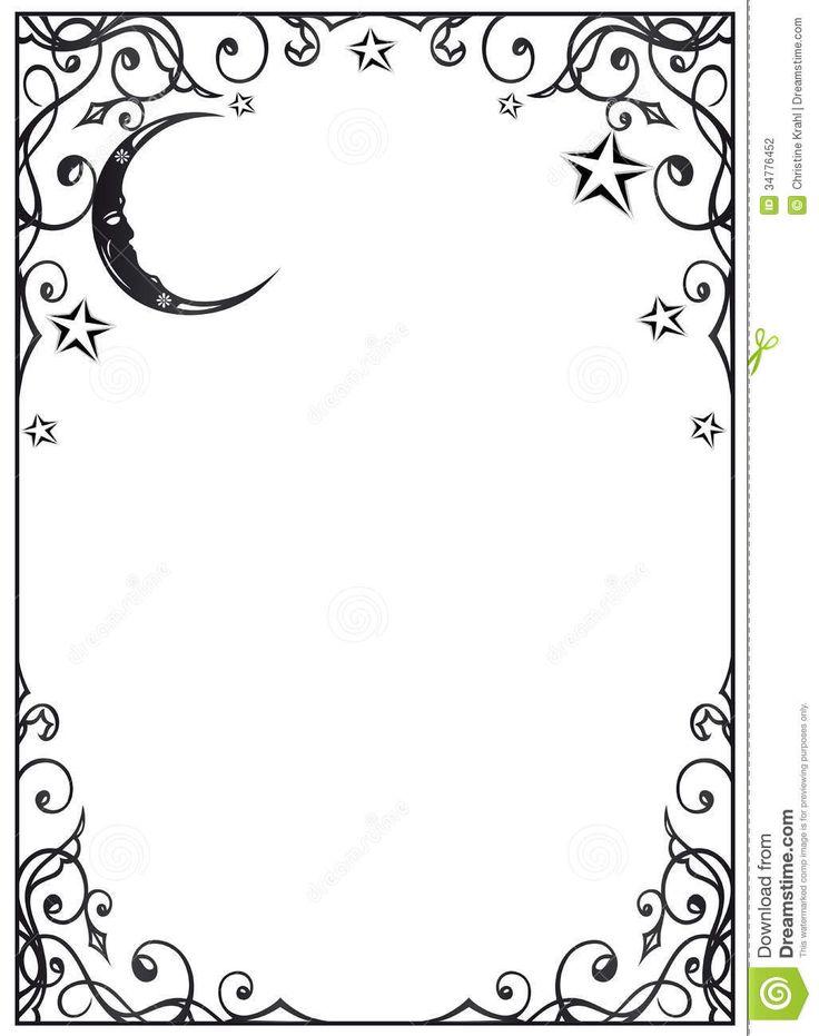 Moon U0026amp; Stars Page Frame-Moon u0026amp; Stars page frame-4