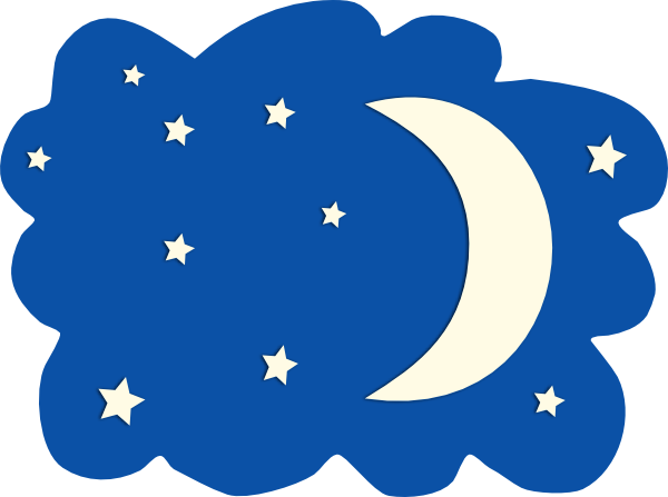 Moon And Stars Clip Art At Clker Com Vector Clip Art Online Royalty