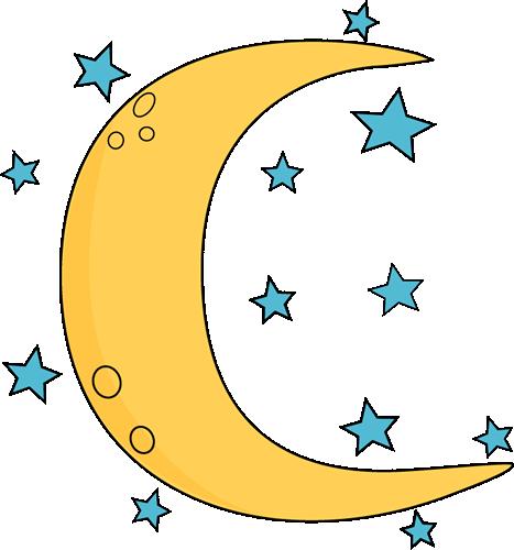 Moon Clip Art Crescent Moon And Stars Pn-Moon Clip Art Crescent Moon And Stars Png-16