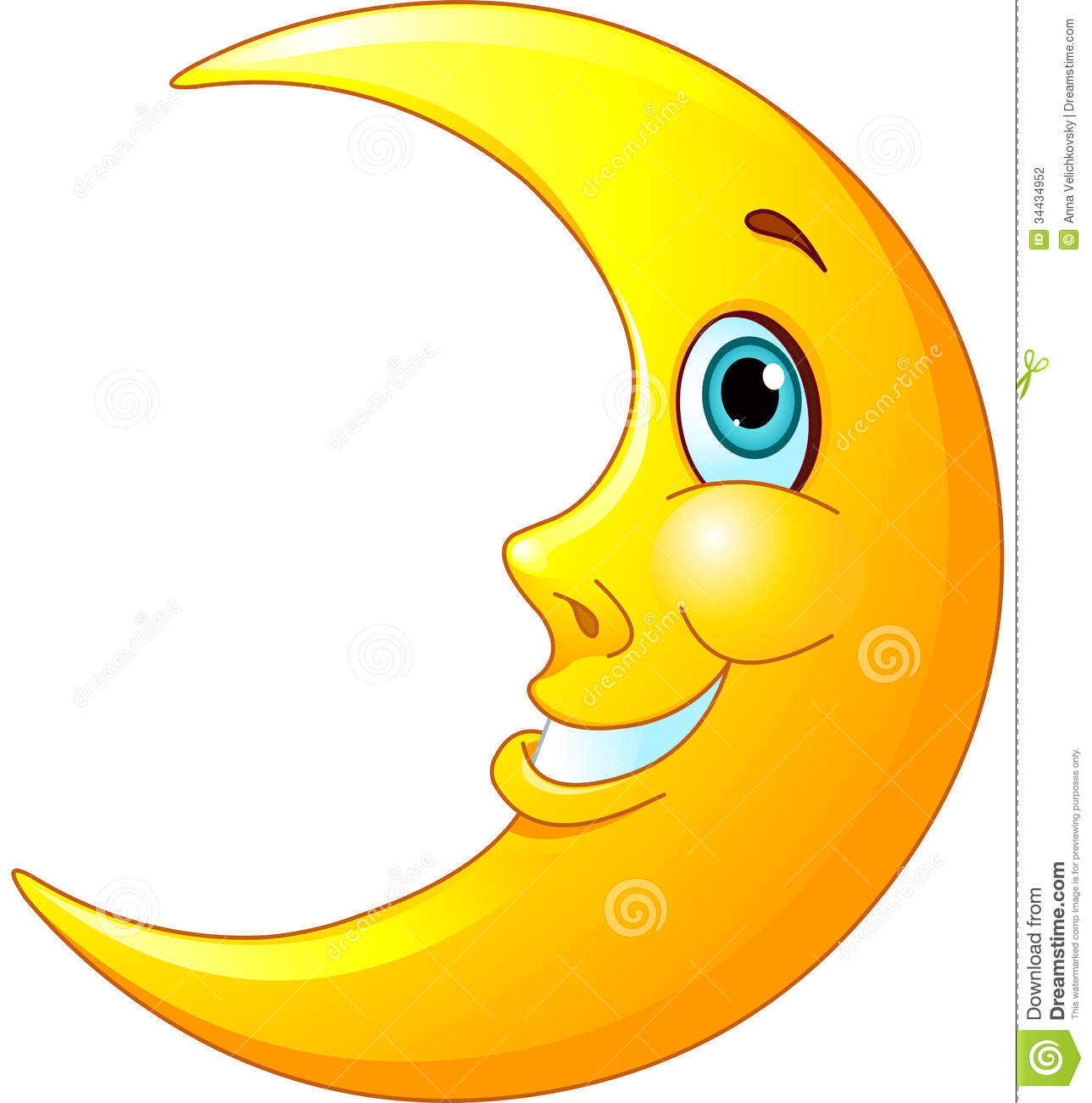 Moon Clip Art Smiling Moon Stock Photography Image