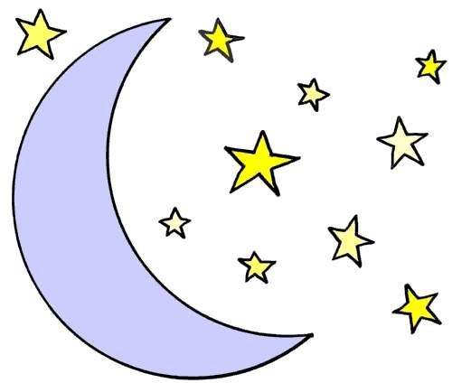 Moon With Stars Clipart