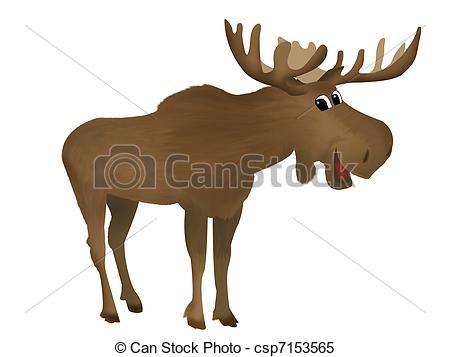 Moose Clipartby Anortnik8/376; Moose - C-Moose Clipartby anortnik8/376; Moose - Childish illustration of a cute smiling moose-3