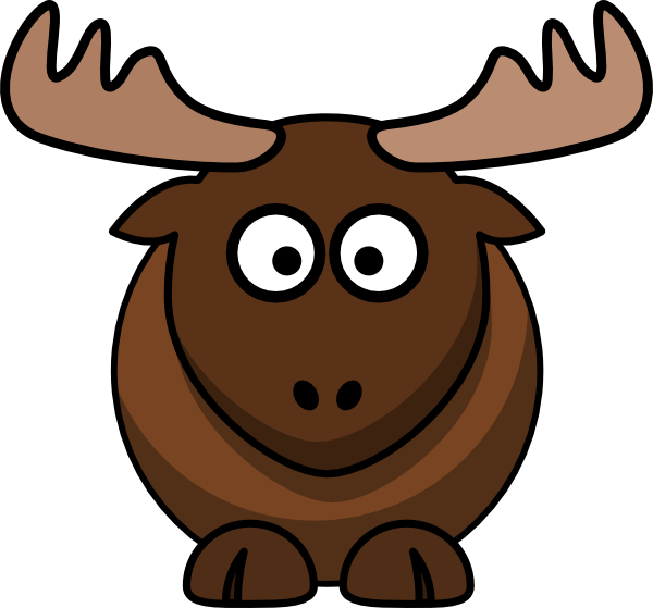 Moose free to use clip art-Moose free to use clip art-12