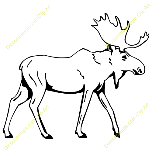 Moose Tracks Clip Art Mascot Clipart Image Of A