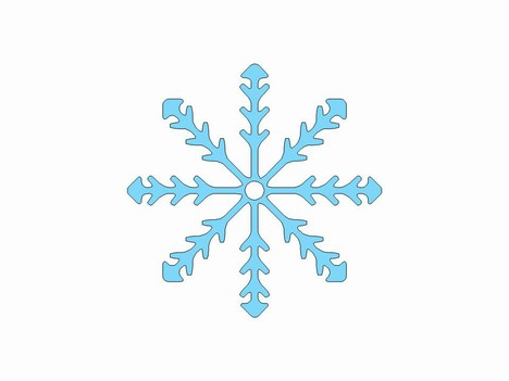 More free snowflake clip art inside page