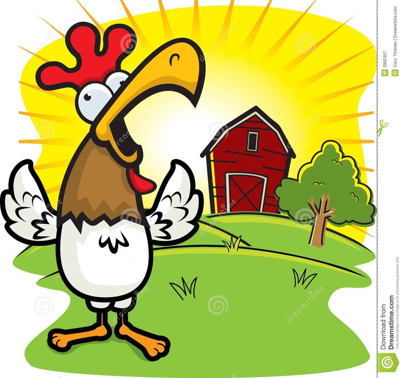 Morning clip art vector morning graphics image. Rooster Crowing Royalty Free Stock Photography Image 2992467