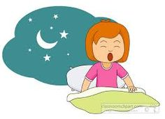 morning girl wake up clipart .