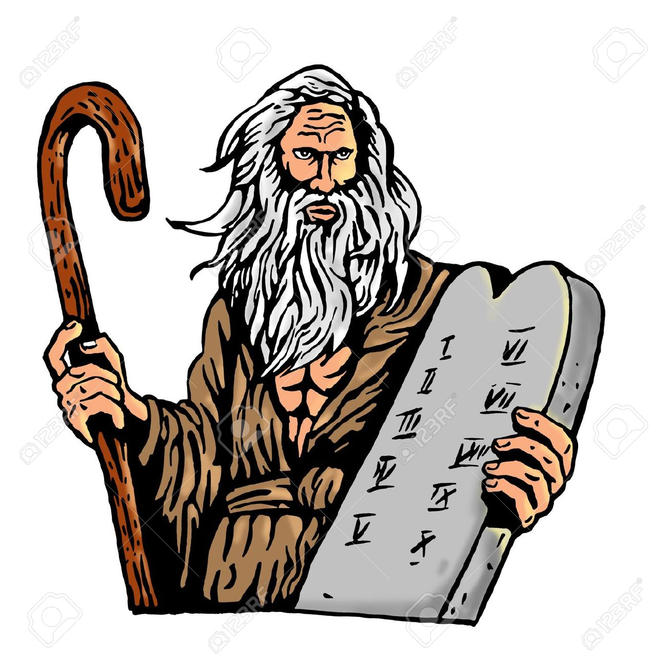 Moses Ten Commandments Clipart .