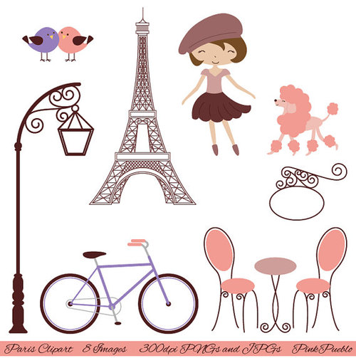 Most Popular Tags For This Im - Paris Clip Art