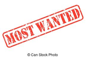 Most Wanted rubber stamp Clip Artby lkeskinen0/0; Most wanted red stamp  text on white