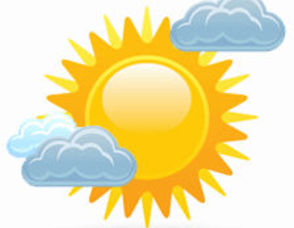 Mostly Sunny Clip Art Images .
