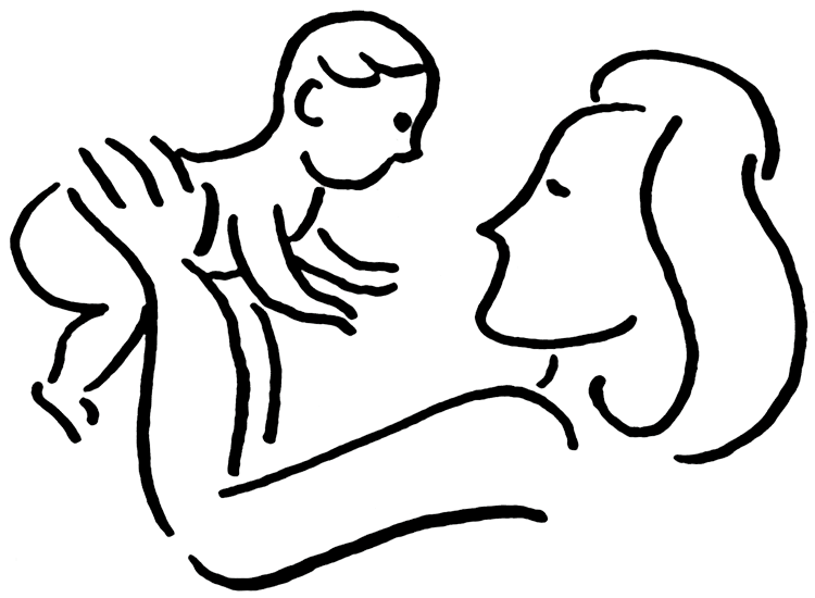mother and baby clipart-mother and baby clipart-5
