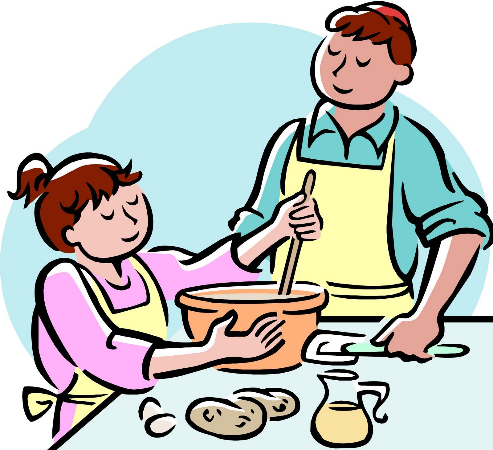 mother cooking clipart · cooking clipart