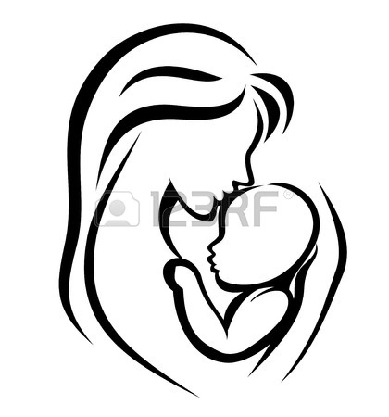 Mother And Baby Clipart .