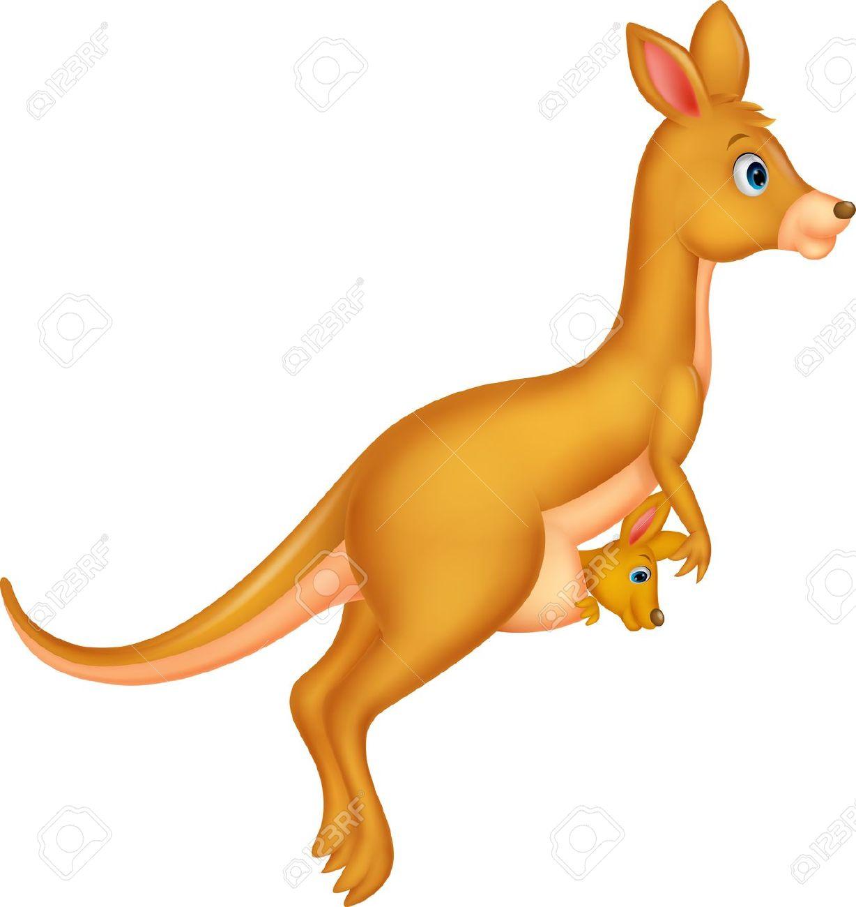Mother And Baby Kangaroo .-Mother and baby kangaroo .-16