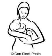 ... Mother and baby - Vector illustration : Mother and baby on a.