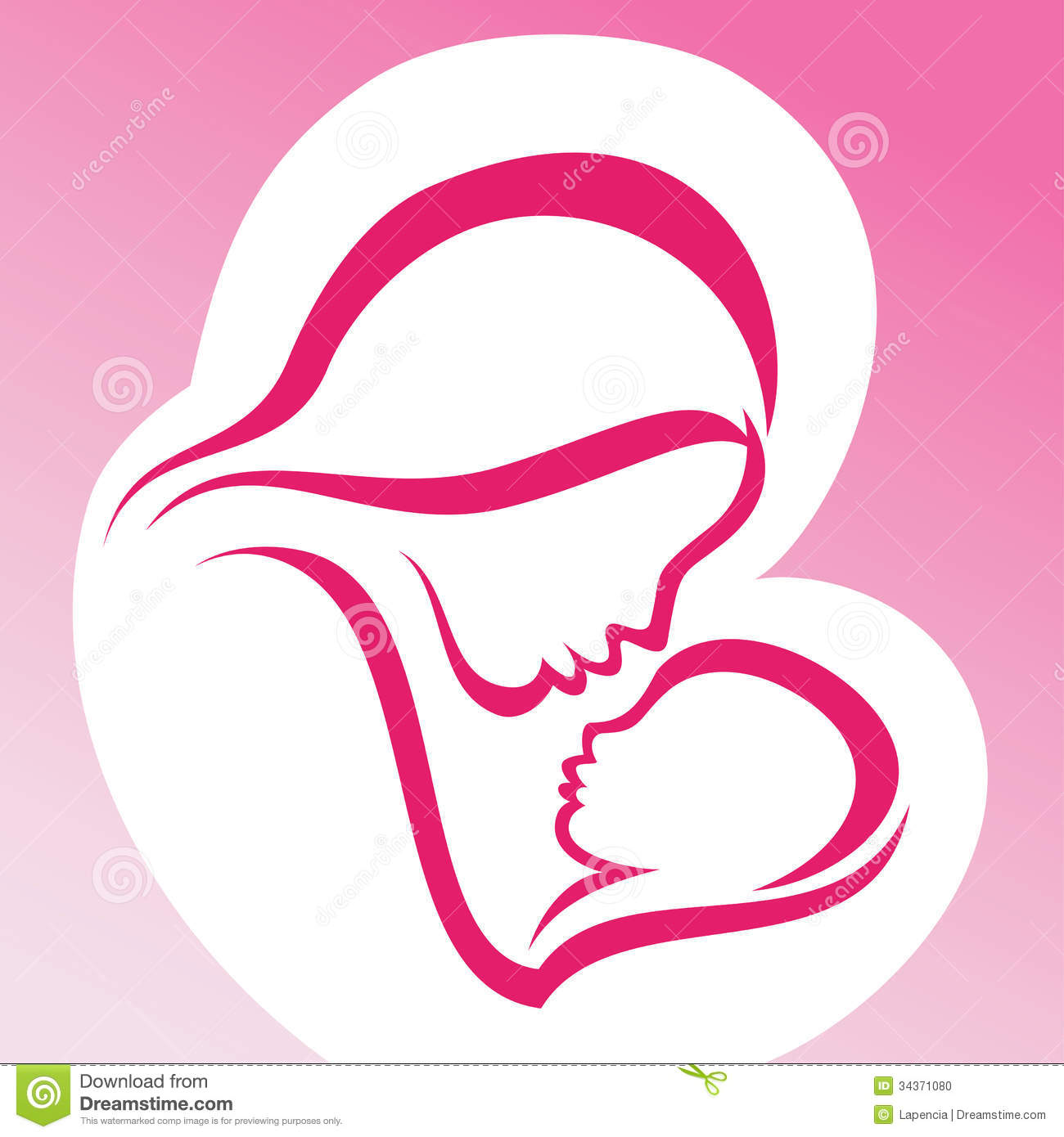 mother and child clipart