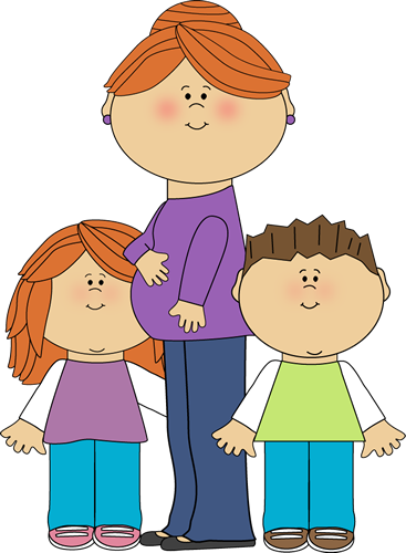 mother clipart. Pregnant Mom with Kids-mother clipart. Pregnant Mom with Kids-18